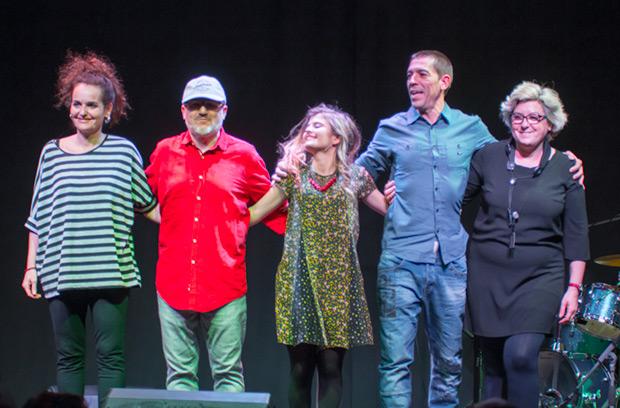De izquierda a derecha: Alba Arisa, Daniel Sesé, Ivet Remacha, José Luis Mediavilla y Glòria Torres. © Xavier Pintanel