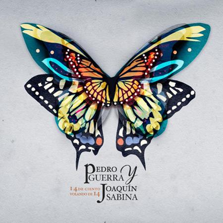 Portada del disco «14 de ciento volando de 14» de Pedro Guerra.