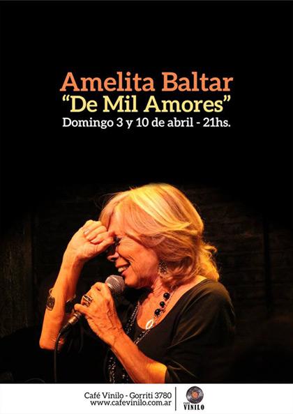 Amelita Baltar promete un espectáculo con una «Amelita total» en «De mil amores».