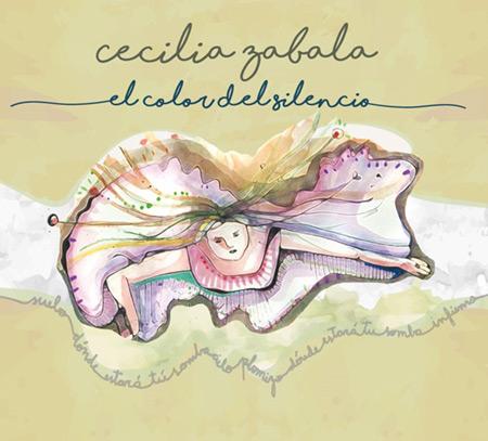 Portada del disco «El color del silencio» de Cecilia Zabala.