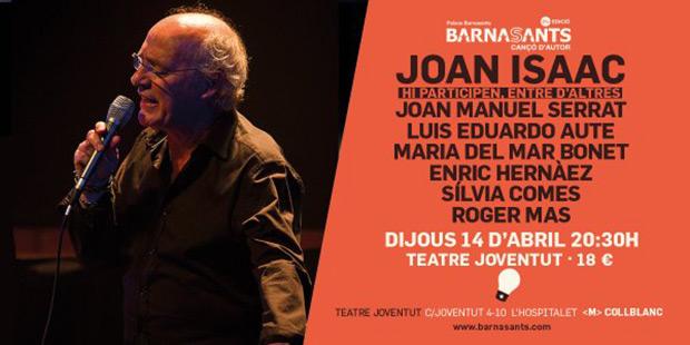 Joan Isaac clausura el BarnaSants entre amigos.