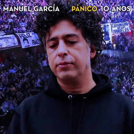 Portada del disco «Pánico 10 Años» de Manuel García.