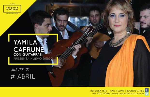 Yamila Cafrune presenta nuevo disco y formación criolla.