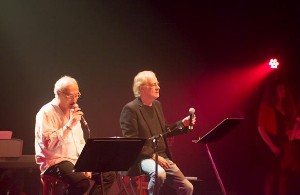 Joan Isaac y Luis Eduardo Aute. © Xavier Pintanel
