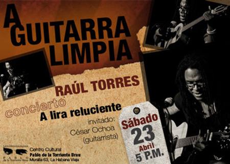 Raúl Torres en el Centro Pablo de la Torriente «A lira reluciente».