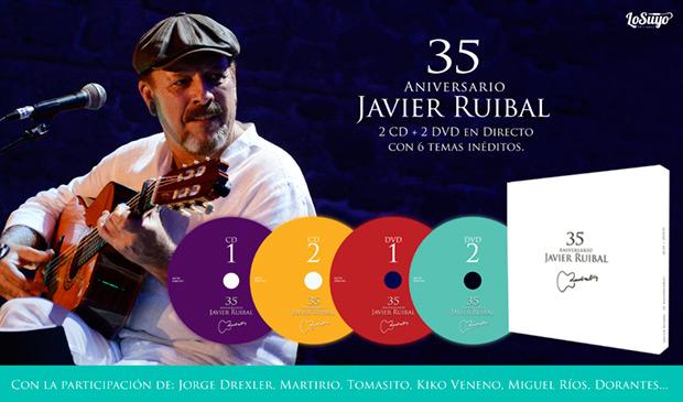 Javier Ruibal celebra sus 35 años de carrera con un doble CD y DVD.
