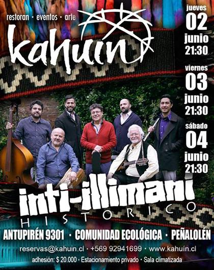 Inti-Illimani Histórico ha anunciado que tras los tres conciertos íntimos en Kahuín.
