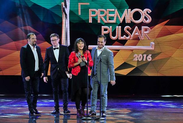 Camila Moreno triunfa en los Premios Pulsar. © Agencia UNO