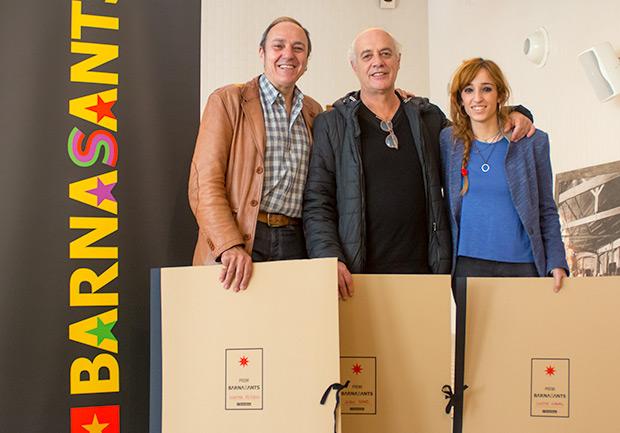 De izquierda a derecha: Pere Camps, director del festival BarnaSants, Joan Isaac e Ivette Nadal. © Xavier Pintanel