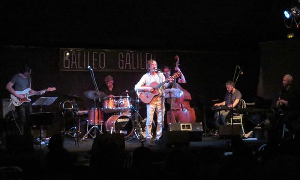 Javier López de Guereña y su banda en la sala Galileo Galilei de Madrid. © Isabel Llano