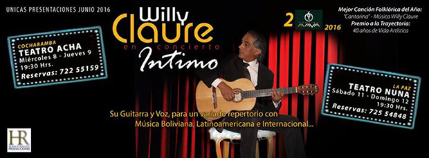 Willy Claure en concierto «Íntimo».