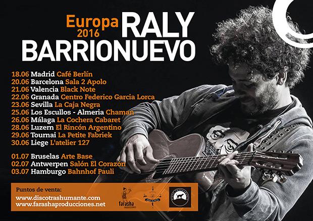 Raly Barrionuevo gira «Europa junio 2016».