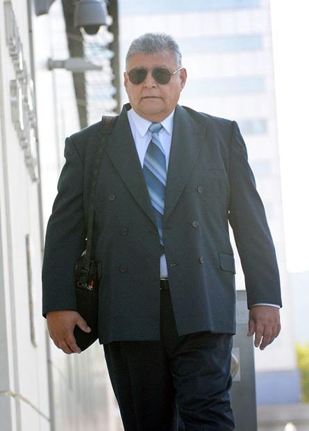 El presunto asesino de Víctor Jara, el exmilitar chileno Pedro Barrientos, llega a la Corte Federal de Justicia en Orlando, Florida el 13 de junio de 2016. © Gerardo Mora | EFE