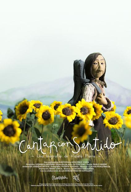 Afiche de la película «Cantar con sentido» de Cecilia Toro y Leo Beltrán.