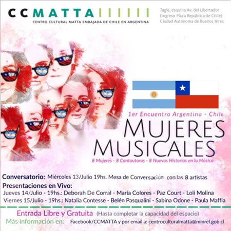 1er Encuentro Argentina-Chile «Mujeres Musicales» 2016.