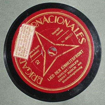 Disco de Ernst Busch.