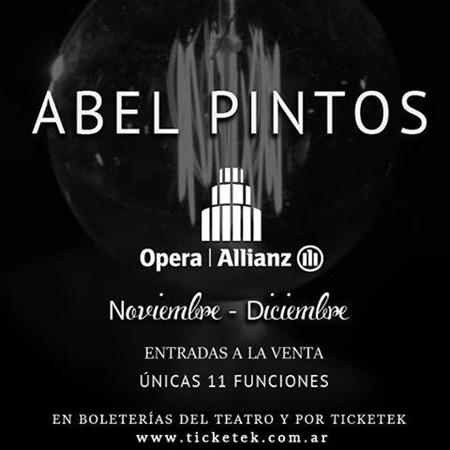 Abel Pintos presentará su nuevo álbum en 11 únicas funciones en Buenos Aires.