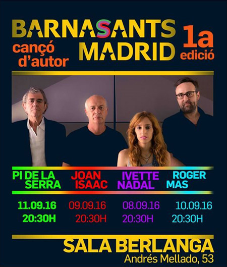 I Festival BarnaSants Madrid 2016