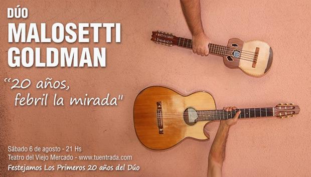 A guitarra y charango, Malosetti-Goldman «20 años, febril la mirada».