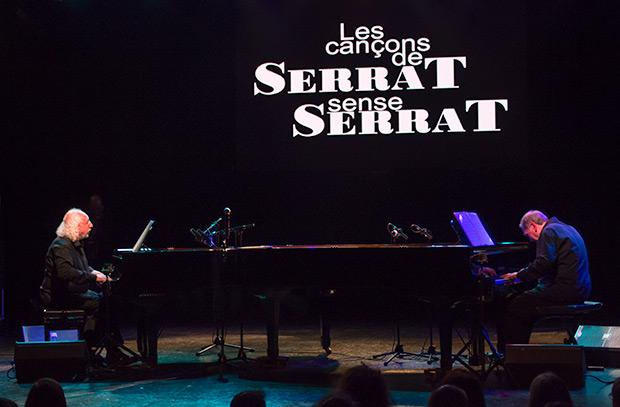 Josep Mas «Kitflus» i Ricard Miralles en el concierto presentación de la gira en la sala Luz de Gas de Barcelona el pasado mes de abril. © Xavier Pintanel