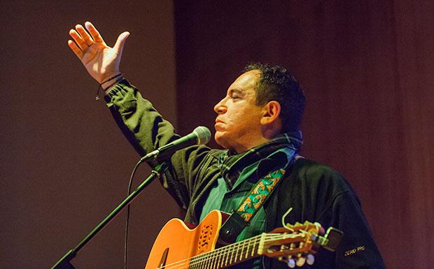 Guillermo Anderson en uno de sus últimos conciertos en febrero de 2015. © Xavier Pintanel