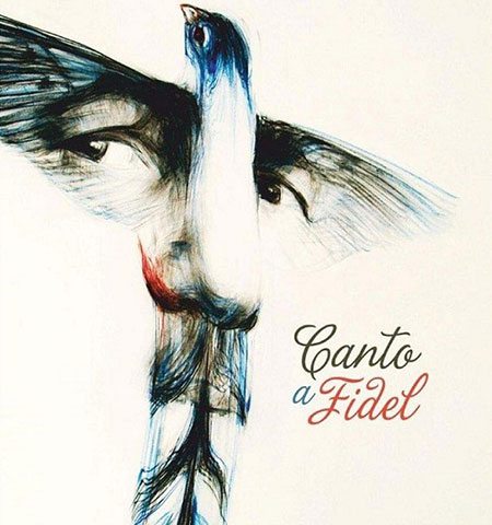Portada del disco «Canto a Fidel».