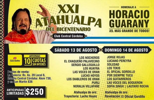 XXI Festival Atahualpa del Bicentenario Tucumán 2016.