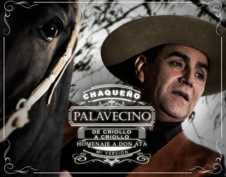 Portada del disco «De Criollo a Criollo. Homenaje a Don Ata. Mi versión» del Chaqueño Palavecino.