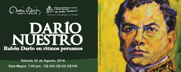 Darío nuestro. Rubén Darío en ritmos peruanos.