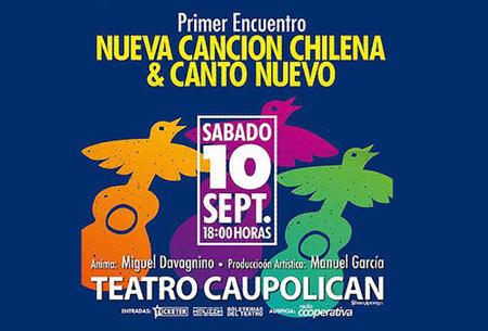 La Nueva Canción Chilena y el Canto Nuevo se reúnen por primera vez en Santiago.