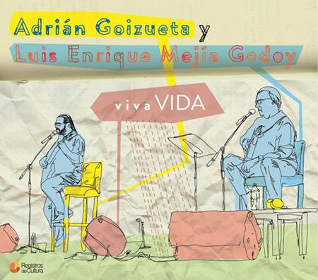 Portada del disco «VivaVida» de Luis Enrique Mejía Godoy y Adrián Goizueta.