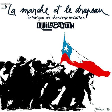 Otra imagen creada por José Balmes para un disco de Quilapayún que también fue utilizada posteriormente para diversos afiches.