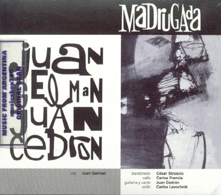 Portada del disco «Madrugada» del Cuarteto Cedrón.