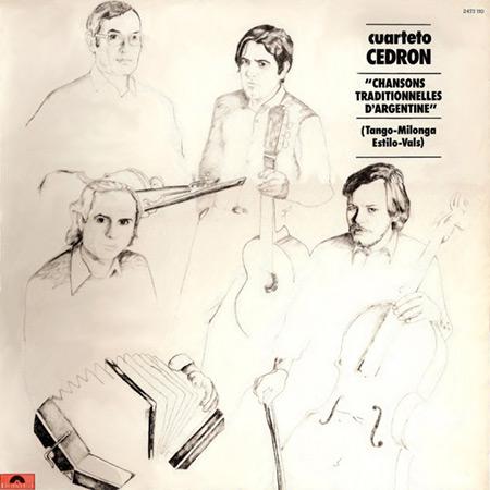 Portada del disco «Canciones tradicionales de Argentina» del Cuarteto Cedrón.