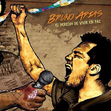 Portada del disco «El derecho de vivir en paz» de Bruno Arias.