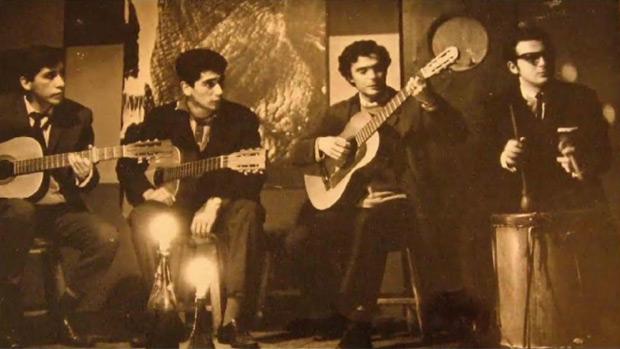 De izquierda a derecha: Sergio Sánchez, Roberto Rivera, Osvaldo «Gitano» Rodríguez y Gonzalo «Payo» Grondona.