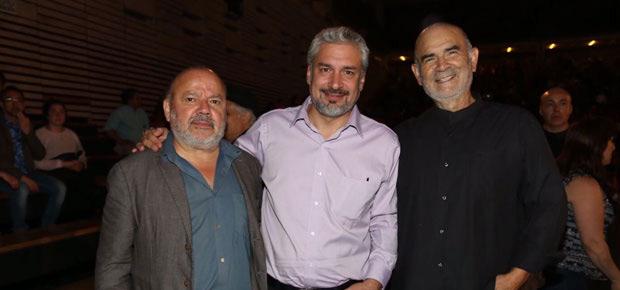 De izquierda a derecha Horacio Salinas, Ernesto Ottone y Pedro Gajardo. © Consejo Nacional de la Cultura y las Artes. Gobierno de Chile