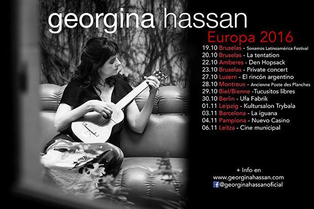 Georgina Hassan en Europa.