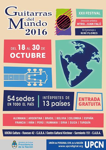 22 Festival Guitarras al Mundo Buenos Aires 2016