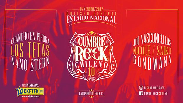 Cumbre del Rock Chileno 10 años 2016.