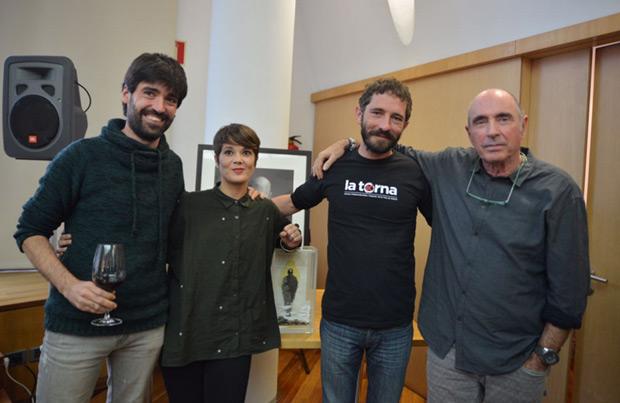 De izquierda a derecha: Roc Casagran, Mireia Vives, Borja Penalba y Lluís Llach. © Xavier Mercadé