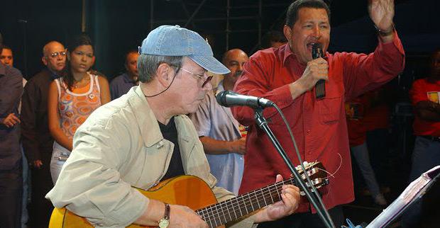El nacimiento del «dúo Silvio y Hugo», donde el presidente Chávez declama el poema de Alberto Arvelo Torrealba «Por aquí pasó».