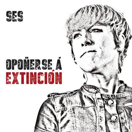 Portada del disco «Opoñerse á extinción» de Sés.