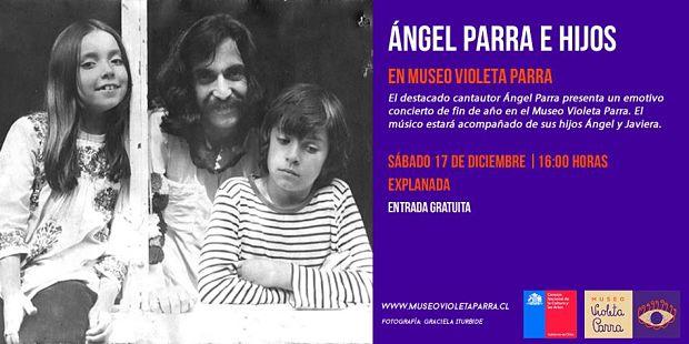 Ángel Parra con sus hijos Ángel y Javiera.