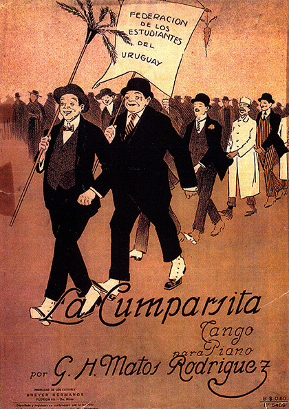Partitura original de «La Cumparsita».