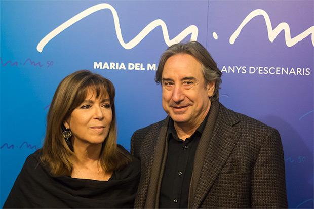 Maria del Mar Bonet con el actor Juanjo Puigcorbé, actual diputado de Cultura de la Diputación de Barcelona. © Xavier Pintanel