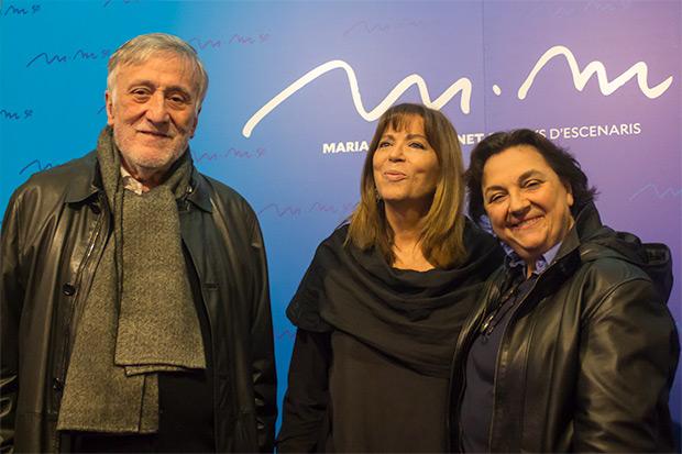 Maria del Mar Bonet con Joan Molas i Núria Batalla, sus primeros managers y actores imprescindibles en la historia de la Nova Cançó. © Xavier Pintanel
