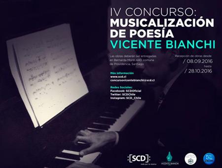 IV Concurso de Musicalización de Poesía Vicente Bianchi.