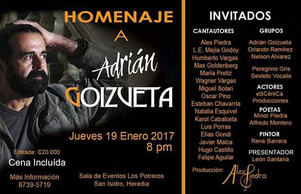 Homenaje a Adrián Goizueta.