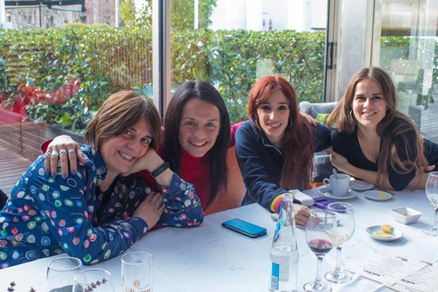 Les Kol·lontai (de izquierda a derecha): Sílvia Comes, Montse Castellà, Ivette Nadal y Meritxell Gené. © Xavier Pintanel
